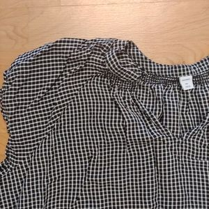 Lightweight Black & White Checked Top